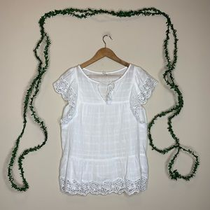 GAP White Eyelet Lace Tunic